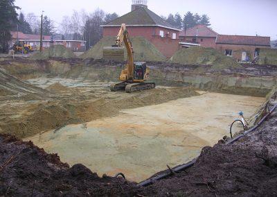 Uitgraven kelder - Grondwerken Jennes Herselt