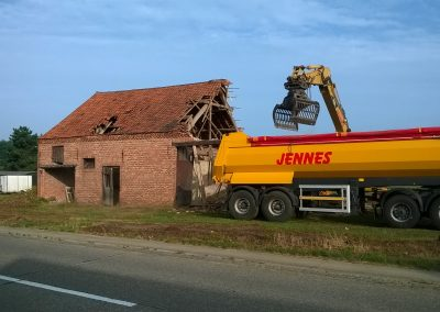 Afbreken schuur - Grondwerken Jennes Herselt