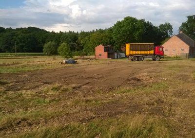 Terrein na afbraak schuur - Grondwerken Jennes Herselt