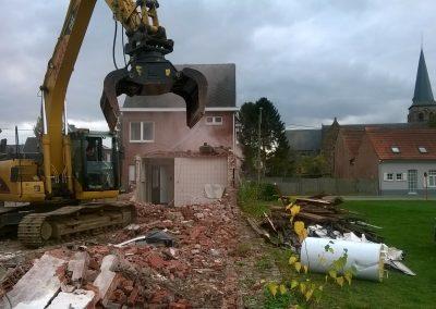 Gedeeltelijke afbraak woning voor renovatiewerken - Grondwerken Jennes Herselt