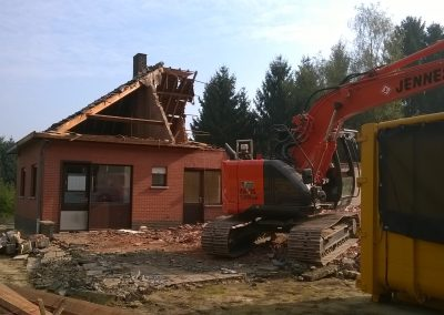 Afbraak woning - Grondwerken Jennes Herselt