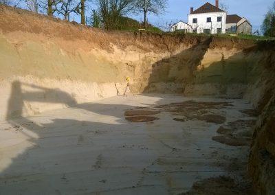 Uitgraven van kelder - Grondwerken Jennes Herselt
