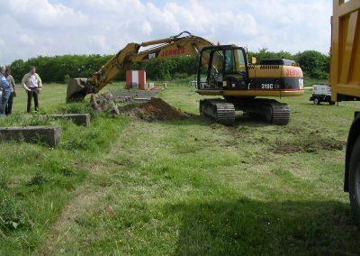 Verwijderen van beton - Grondwerken Jennes Herselt